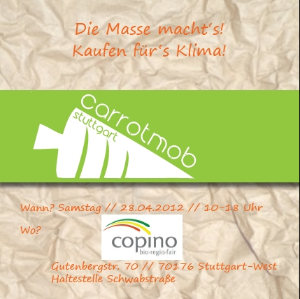 Carrotmob bei Copino - Flyer